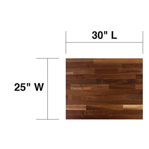 John Boos WALKCT-BL3025-O Blended Walnut Counter Top with Oil Finish, 1.5