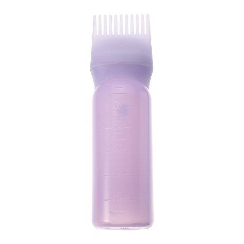Bluelover Couleur De Cheveux en Plastique Colorants De Remplissage De Bouteille Applicateur Gradué Pinceau Kit Outils De Coiffage-Violet