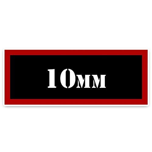16.5CM * 6.2CM Interessanter retro reflektierender 10MM Munition Auto Aufkleber Aufkleber