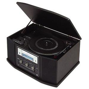 TEAC GF-450K7 Turntable Cassette CD Recorder and Radio (Black)