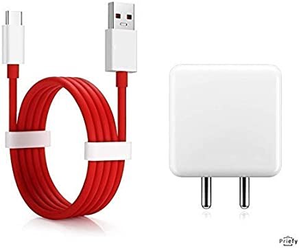 Priefy Power Charger 5V 4A Adapter with Type C USB Fast Charging Cable Compatible for OnePlus 6T/6/5T/5/3T/3 (Charger)