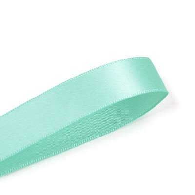 JAP768 9mm Double Face Satin Ribbon 100yards Blue For Party Wedding Decoration Handmade Rose Flowers Ribbongs (Color : Aqua 314, Size : 9mm)