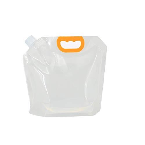 adad Campinggeschirr-Wasserkanister Klappbarer Wasserspeicherbeutel | Tragbarer Wasserspeicher | 1.5L2.5L5L | Indoor Picknick Camping (Color : Clear, Size : 2.5L)
