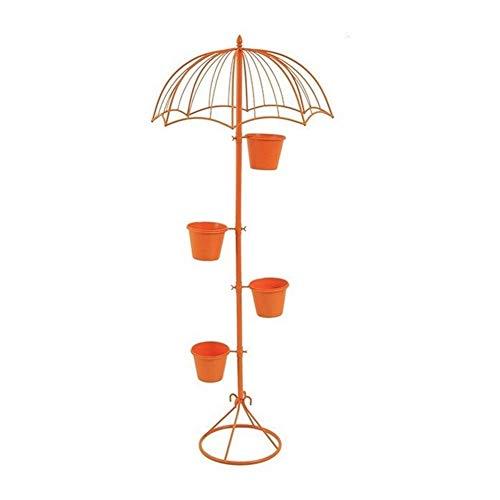 Vloer Staande Bloem Pot Creatieve Amerikaanse Zonneschermstandaard Woonkamer Groene Smeedijzeren Lounge Deur Met Licht (Kleur: Oranje)