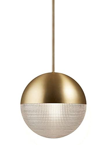 LED Regulable Mesa De Comedor Lámpara De Suspensión Modernas Comedor Dorado Vidrio Luces Colgante 7W Anillo Dormitorio Lámpara Colgante Creatividad Iluminación De Colgando Lámpara de Noche L25CM