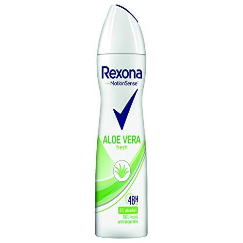 Rexona - Aloe Vera Antitranspirante Aerosol para Mujer, 0% Alcohol - 200 ml
