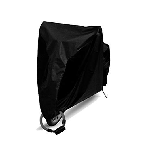 WILLQ Motorrad abdeckplane wasserdicht Außenschutz, Schutz vor Staub, Schmutz, Regen und Wetter,Motorradabdeckung wasserdicht im Freien,Full Black,L