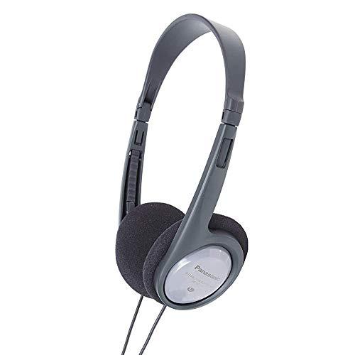 Panasonic RP-HT090E-H Bügelkopfhörer (Kopfhörer mit langem Kabel; TV-Kopfhörer; 3,5mm Klinkenstecker) grau