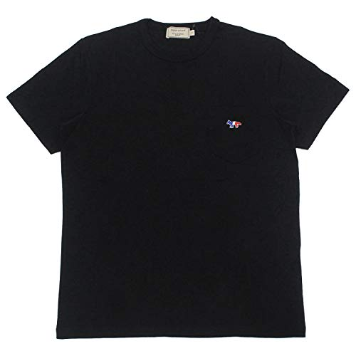 Maison Kitsune (メゾン キツネ) TEE SHIRT TRICOLOR FOX PATCH AM00102 KJ0010 メンズ Tシャツ ブラック M...