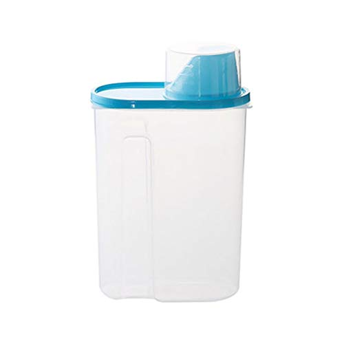 Keuken voedsel graan bonen rijst plastic opslag container doos tank blauw l