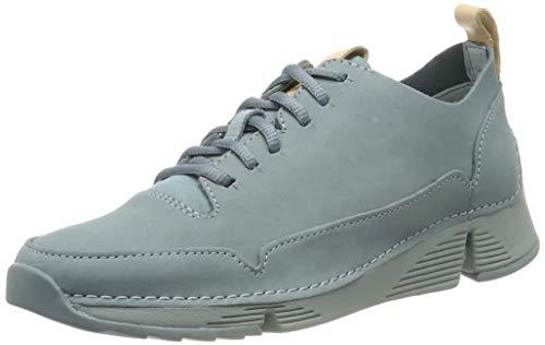 Clarks Damen Tri Spark. Sneaker, Blau (Blue Nubuck Blue Nubuck), 39 EU