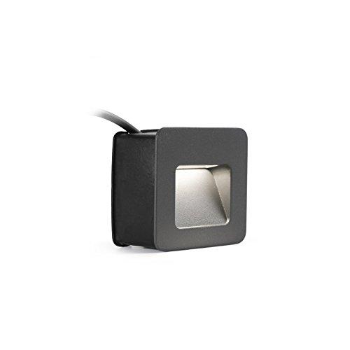 Faro Barcelona 70398 Neuslamp, inclusief ledverlichting, 3 W, aluminium behuizing en diffuser, transparant, grijs