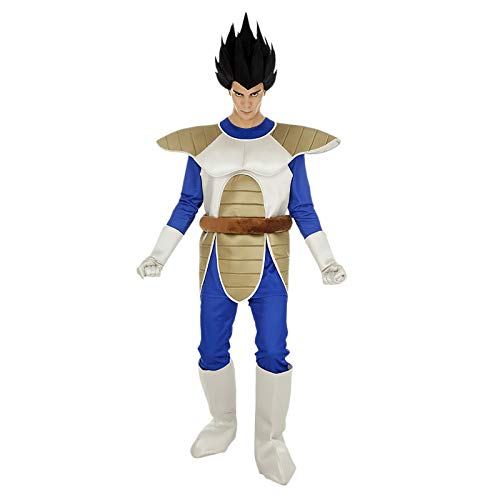 Disfraz de Dragon Ball Vegeta 6tlg Azul Beige - S