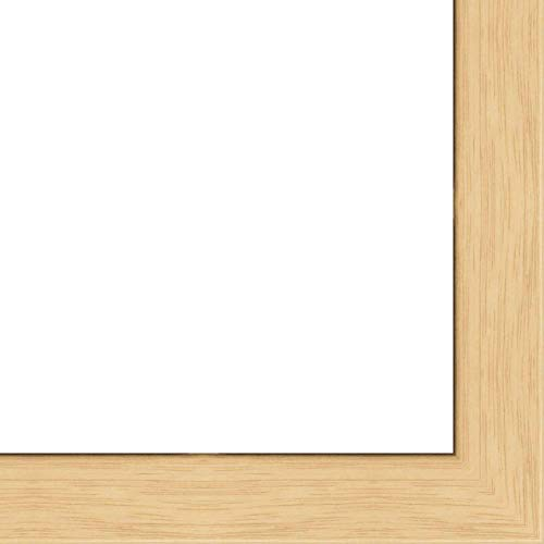 13x19 - 13 x 19 Natural Oak Flat Solid Wood Frame with UV Framer's Acrylic & Foam Board Backing - Great For a Photo, Poster, Painting, Document, or Mirror