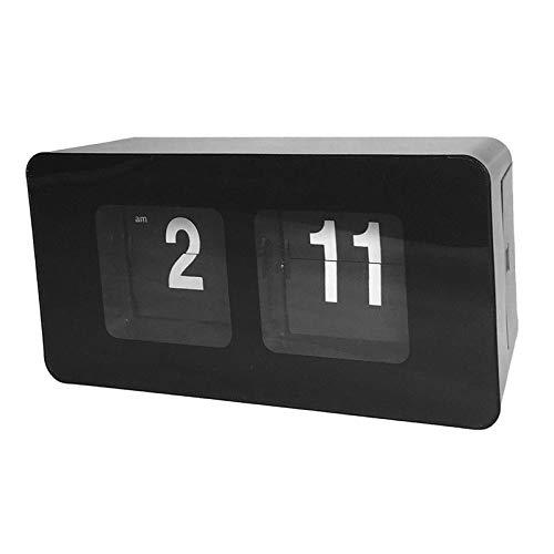 LOVIVER Retro Style Flip Schreibtisch Regal Uhr Klassische Mechanisch Digitale Anzeige Batteriebetrieben Home & Office Dekor - Schwarz