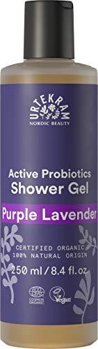 Urtekram Purple Lavender Duschgel Bio, mit aktiven Probiotiken, 250 ml