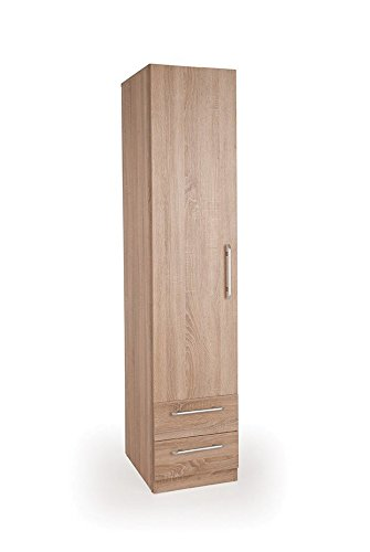 Connect Holborn 1 Door Wardrobe with 2 Drawers - Oak