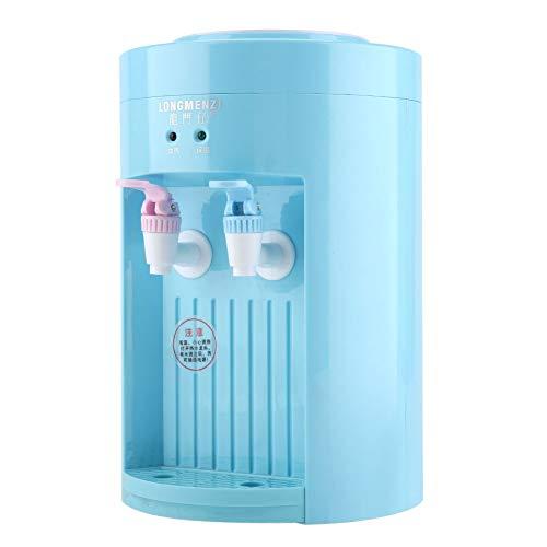 Zerodis 220 V 5L Elektrischer Wasserkühler Dispenser Zähler Top Warm Cold Water Drink Maschine Mini Desktop Wasserspender Kompakte Größe Für Schreibtisch(Blau)