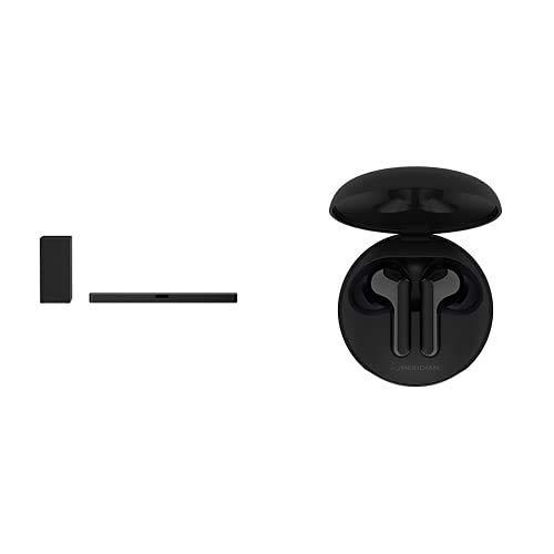 LG SN5Y.DEUSLLK Altoparlante Soundbar 3.1 Canali 400 W Nero con Cuffie TONE Free True Wireless HBS-FN4 Black incluse