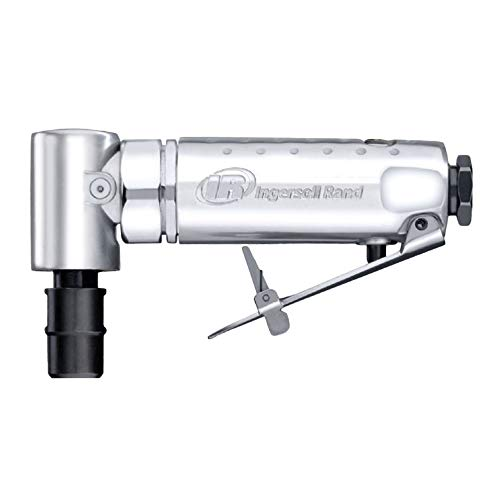 """Ingersoll Rand 301B Air Die Grinder – 1/4"""", Right Angle, 21,000 RPM, Ball Bearing Construction, Safety Lock, Aluminum Housing, Lightweight Power Tool, Black"""