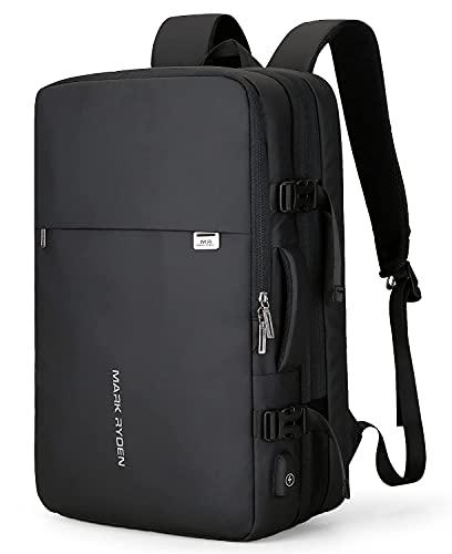 Muzee Handgepäck Rucksack 25L-40L zum Mitnehmen Wasserdichter Laptop-Wochenendrucksack für 15,6/17,3-Zoll-Laptops, Diebstahlschutz, fluggeprüfter Rucksack,...