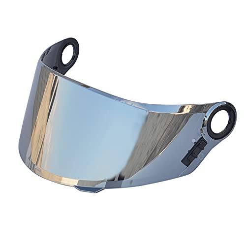 Daerzy Capacetes de proteção contra vento anti-UV anti-riscos para motocicleta Substituição da viseira de lente para LS2 FF358 FF396