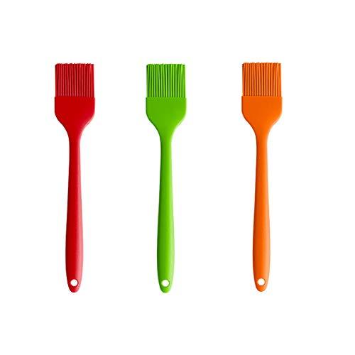 Backpinsel, 3 Stück, Küchenpinsel zum Kochen, Backen, Grillen – BPA-frei (grün)