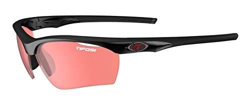 Tifosi Gafas de sol unisex Vero Crystal Black/Enliven Bike Red Lens, talla única
