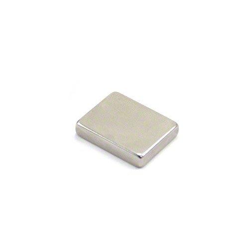 first4magnets–Calamite al neodimio N42F25205–1, 9,9kg Pull, 1confezione, in metallo, argento, 25x 20x 5mm spessi