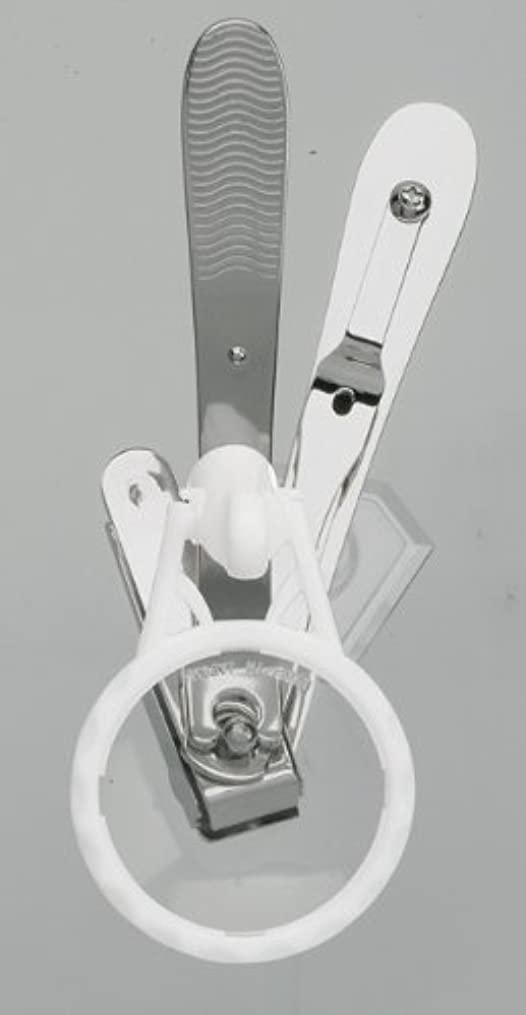 谷中国段階スイングⅡ爪切り〈ルーペ付〉 シルバータイプ DU-86