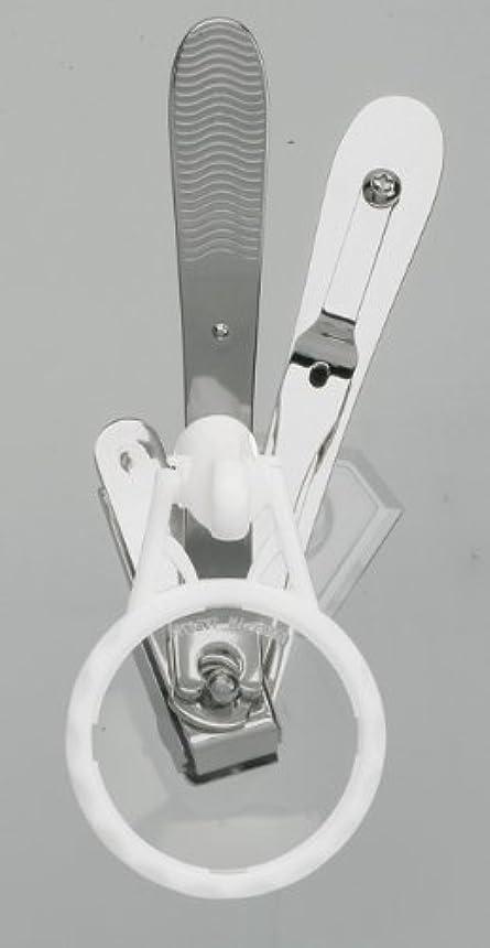 カビ寄生虫変動するスイングⅡ爪切り〈ルーペ付〉 シルバータイプ DU-86