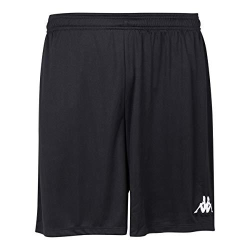 Kappa VARESO Herren-Ausrüstungs-Shorts, Schwarz/Weiß, M