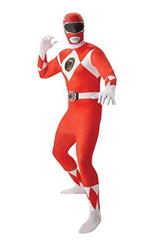 Rubie 's offizielles Red Ranger Second Skin Kostüm für Erwachsene, ausgefallenes Kostüm