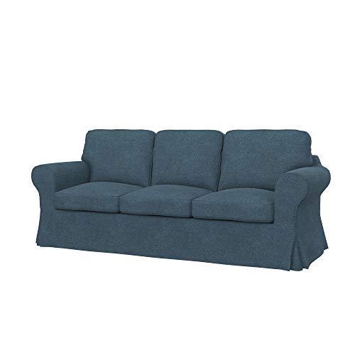 Soferia Funda de Repuesto para IKEA EKTORP PIXBO sofá Cama de 3 plazas, Tela Strong Blue, Azul