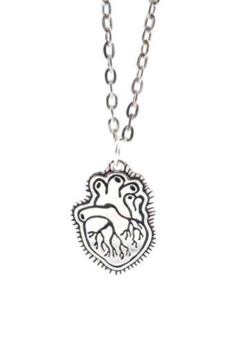 Anatomie Herz Kette 60 cm Damen Modeschmuck Silber-Farben