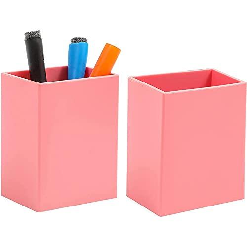 Magnetic Pen Holder for Refrigerator, Locker, or Whiteboard (Pink, 2 Pack)