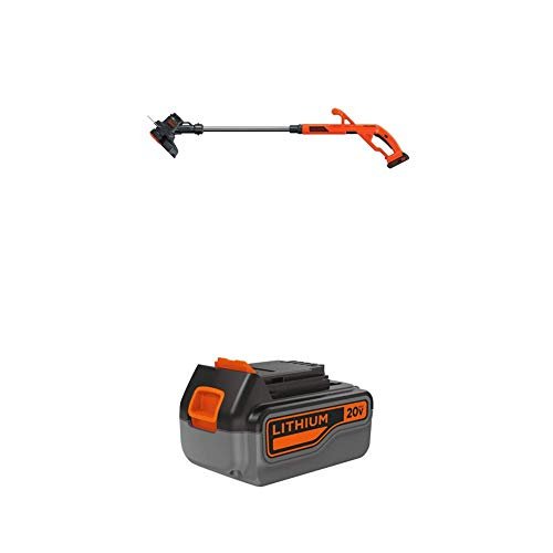 BLACK+DECKER 20V MAX String Trimmer/Edger Kit with Extra Lithium Battery 3.0 Amp Hour (LST201 & LB2X3020-OPE)