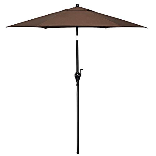 Goplus 6.6ft Outdoor Patio Umbrella, Table Umbrella w/Tilt Adjustment and 6 Ribs for Garden, Deck, Backyard, Pool