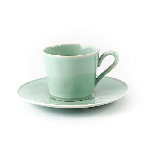 Gedeck / Kaffee / Tee 2-teilig / Ober- und Untertasse, Astoria, türkis, 0,18 l