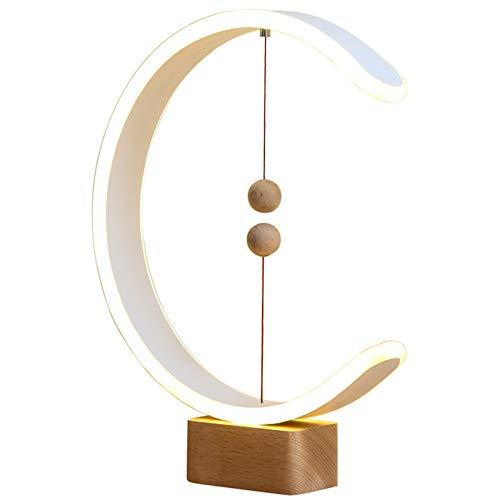 Lámpara De Equilibrio Heng, Lámpara De Escritorio, Suspensión Magnética Inteligente, Luz De Equilibrio, Luz Nocturna LED Creativa, Lámpara De Mesa Para El Cuidado De Los Ojos