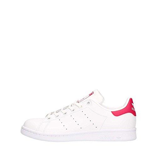 Adidas Stan Smith, Sneaker Unisex-Child, Footwear White/Footwear White/Bold Pink, 36 2/3 EU