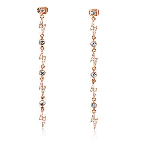 Jewelry Personality Lightning Earrings Women's Temperament Luxury Zircon Long Earrings
