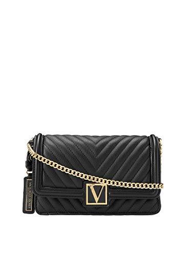 Victoria`s Secret - Bandolera 24/7 con diseño guateado en V tipo guijarros