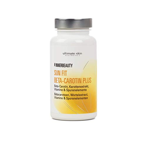 #INNERBEAUTY Sun Fit Beta-Carotin Plus – Hochdosierte Wirkstoffkombination für eine schöne gebräunte und jugendliche Haut – 90 Kapseln