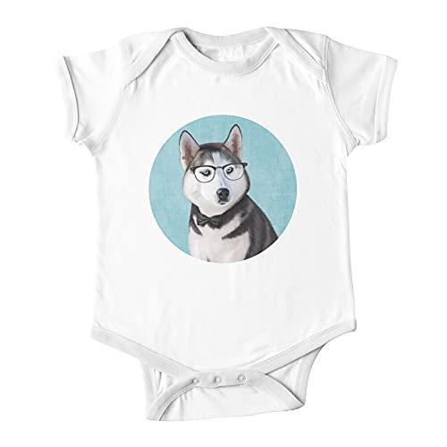 Mr Siberian Husky bebé de una pieza