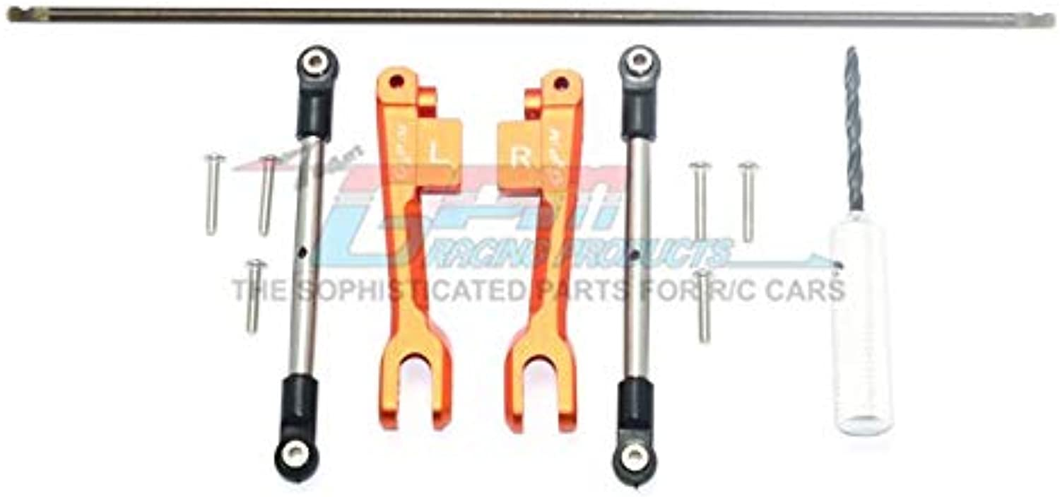 Traxxas Unlimited Desert Racer 4X4 ( 85076-4) Upgrade Parts Spring Steel Rear Sway Bar & Aluminum Sway Bar Arm & Stainless Steel Linkage - 12Pc Set orange