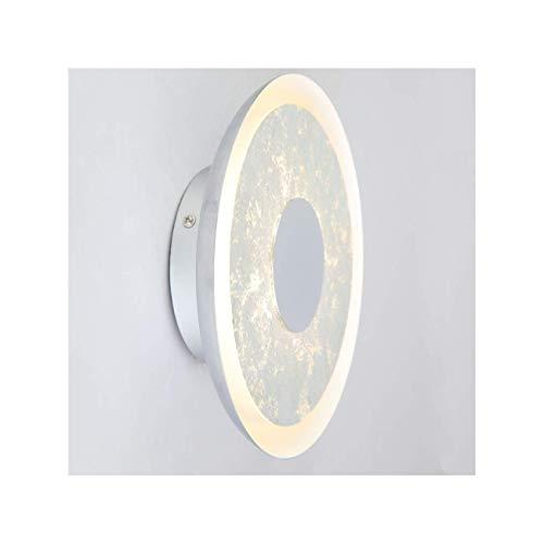 KOSILUM - Applique futuriste disque lumineux LED - Yukon - Lumière Blanc Chaud Eclairage Salon Chambre Cuisine Couloir - 10W - 800 lm - LED intégrée - IP20