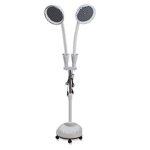 TDP Lampe Doppelkopf TDP Mineral Heat Lampe Fern Therapie Licht mit Dual-Heizplatte für maximale Schmerzlinderung von Muskel-Gelenkschmerzen Rückenschmerzen Arthritis Entzündung usw. (2X275W) Heizung