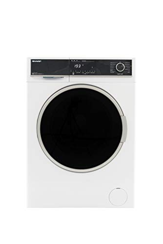 Sharp ES-HFH014AW3-DE Waschmaschine Frontlader/A+++ / 10 kg / 1400 UpM/Advanced Inverter Motor / 15 Programme/AquaStop/Weiß