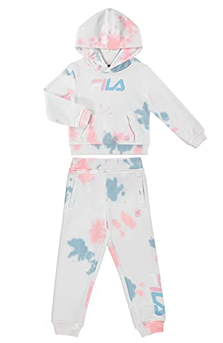 Fila Heritage Girls Two Piece Top and Legging Sets for Baby Girls Clothing (6X, Tie Dye)